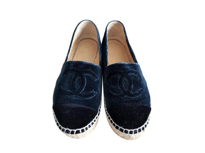 Chanel CHANEL Velvet navy blue