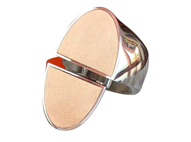Bracelets Hermès Bracelet Chaîne d'ancre initiale Or rose Autre ref.71501