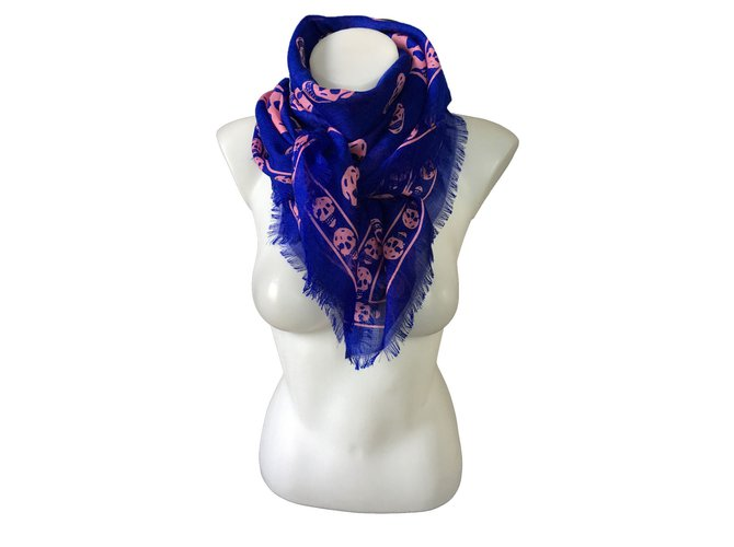 ea5b4733afb8b Alexander Mcqueen Scarves Scarves Silk