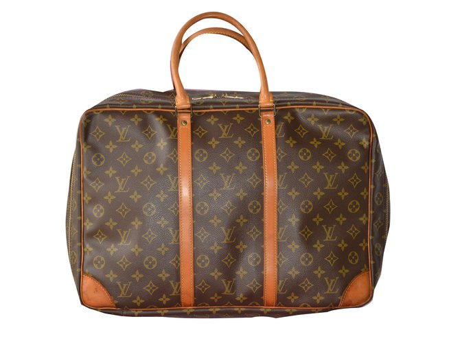 Louis Vuitton Sirius 45 suitcase Travel bag Cloth Brown ref.71621 ... 187869c3be