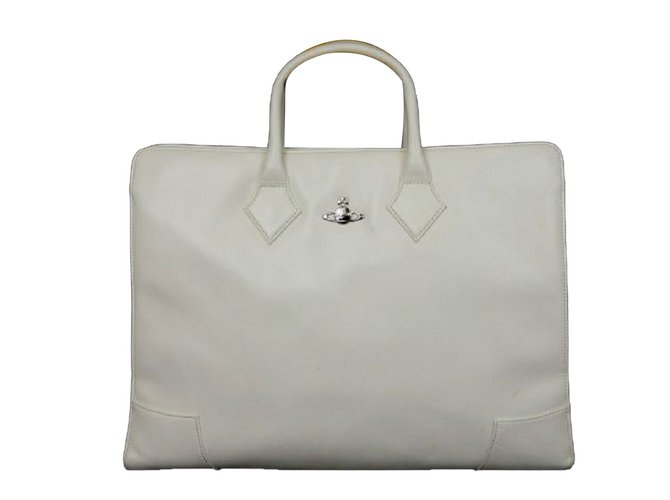 Vivienne Westwood Patent Leather Briefcase Handbags Patent leather White ref.71654