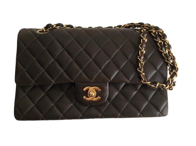 Sacs à main Chanel Timeless classic Cuir Marron ref.71665