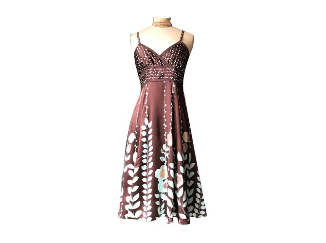 8a3ca66e576 Ted Baker Dresses Dresses Silk Dark brown ref.71761 - Joli Closet