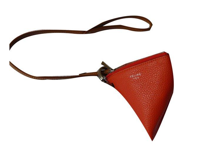 Céline Purses, wallets, cases Purses, wallets, cases Leather Red ref.71780