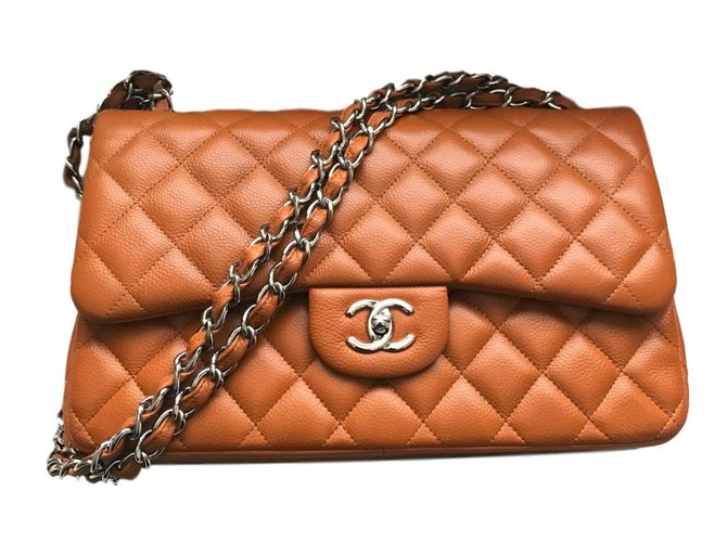 a9db96f99bbd Chanel Chanel Jumbo Timeless Classic lined Flap Bag - Caviar leather - Rich  Caramel Handbags Leather