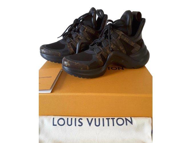 Baskets Louis Vuitton Baskets ARCHLIGHT Autre Marron ref.71940 ... ec4953044b9