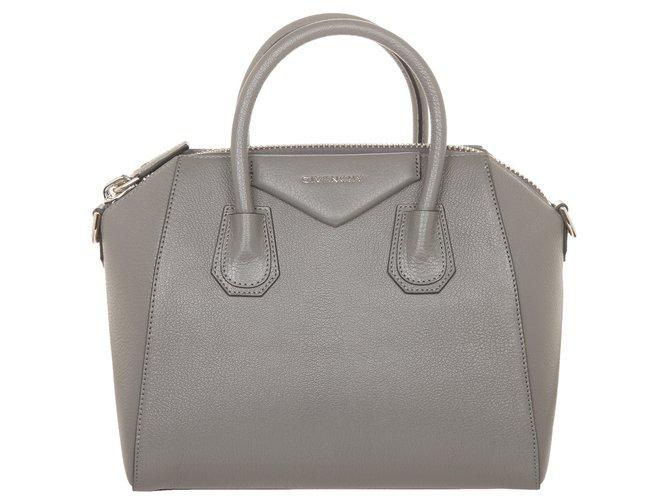 14028595056e Givenchy Antigona small Handbags Leather Grey ref.71943 - Joli Closet