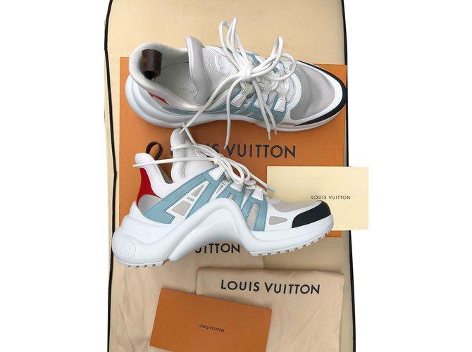 Baskets Louis Vuitton Archlight Caoutchouc Blanc ref.72108 - Joli Closet 204ad8cb047
