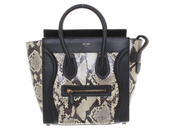 b745d34e4ed4 Céline Micro luggage Handbags Exotic leather Black ref.72186 - Joli ...