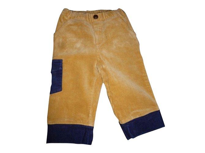 Pantalons garçon Baby Dior Pantalons garçon Velours Beige ref.72191