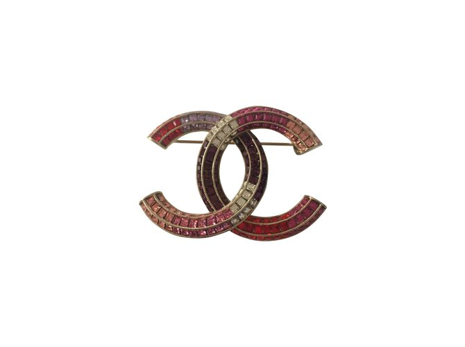 Chanel Pins & brooches Pins & brooches Steel Pink ref.72259