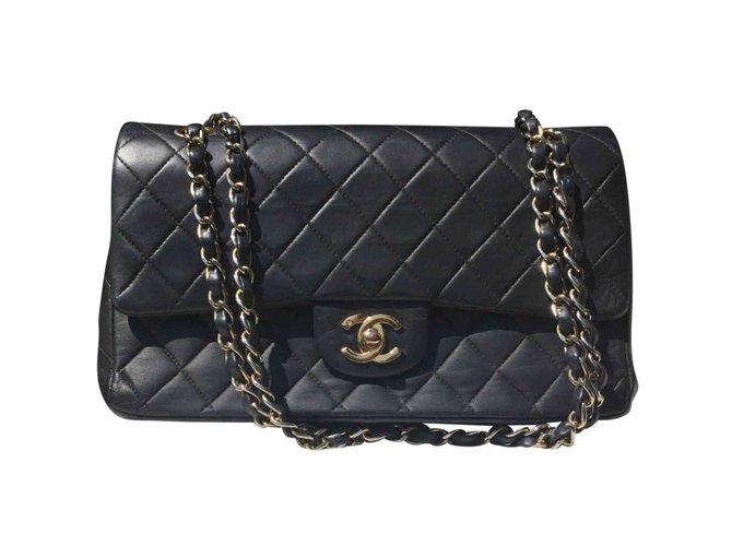 Sacs à main Chanel Sacs à main Cuir Bleu Marine ref.72290