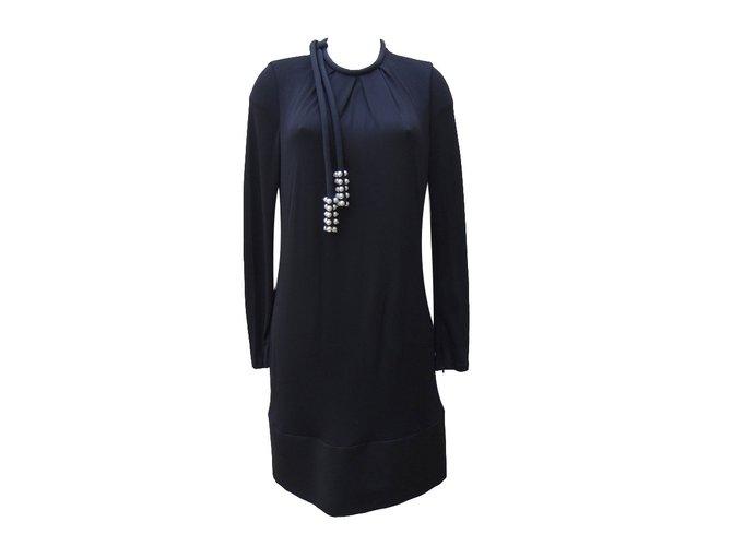 Chloé Dress Dresses Silk,Polyester,Viscose,Elastane Black ref.72321