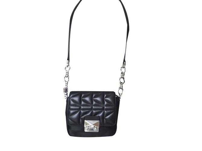 7eab59c440 Karl Lagerfeld Handbags Handbags Leather Black Ref72329 Joli Closet