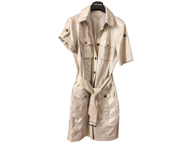 Robes Burberry Brit Saharienne Coton Beige ref.72438 - Joli Closet 4bdcfddfb96