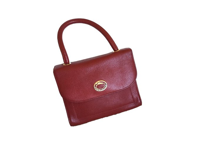 Longchamp Handbag Handbags Leather Dark Red Ref 72557