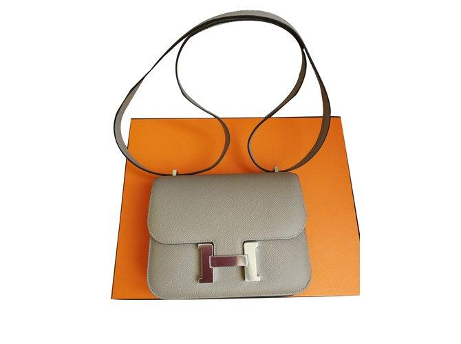 Sacs à main Hermès Constance Mini Cuir Gris ref.72688