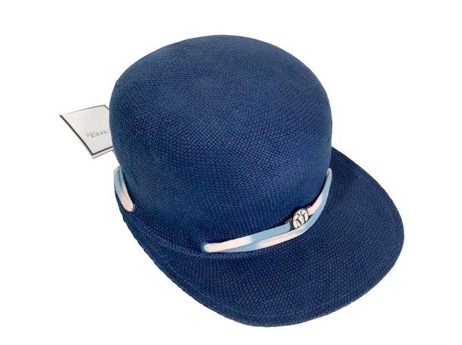 Maison Michel Hats Hats Straw Blue ref.72698
