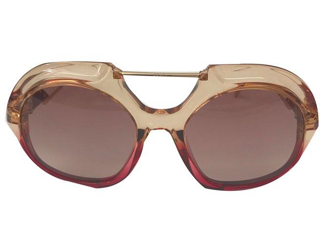 ae414e5e3fd18 Fendi FENDI SUNGLASSS LUNETTES TROPICAL SHINE Pink and red Sunglasses Other  Red ref.72921