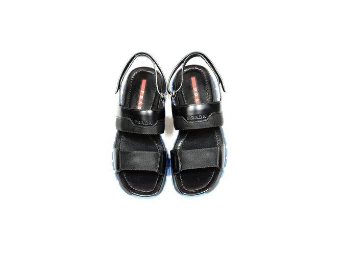 aab214b50f59 Prada Prada sandals new Men Sandals Leather Black ref.72936 - Joli ...