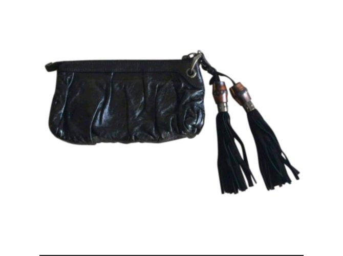 Pochettes Gucci Pochettes Cuir Noir ref.72938