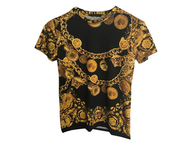 6d50cce64a9bc Gianni Versace Tops Tops Cotton Black ref.72940 - Joli Closet
