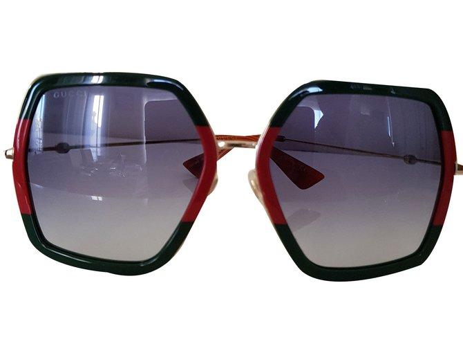 Lunettes Gucci Lunettes de soleil acrylique Multicolore ref.73004 ... 19c254b26791