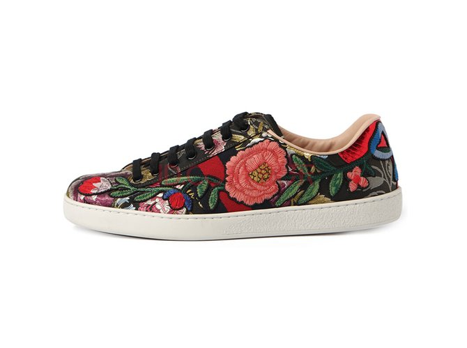 67dd30d1e Gucci gucci sneakers flowers new 41 eu Sneakers Other Multiple colors  ref.73006