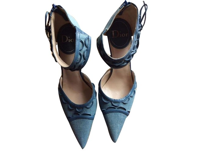 Christian Dior Pumps Heels Denim Blue
