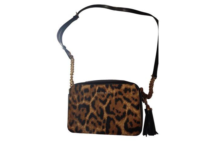 Michael Kors Handbags Leather Leopard Print Ref 73077