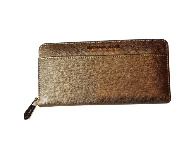 2a0ba820cab8 Michael Kors wallets Wallets Leather Golden ref.73078 - Joli Closet