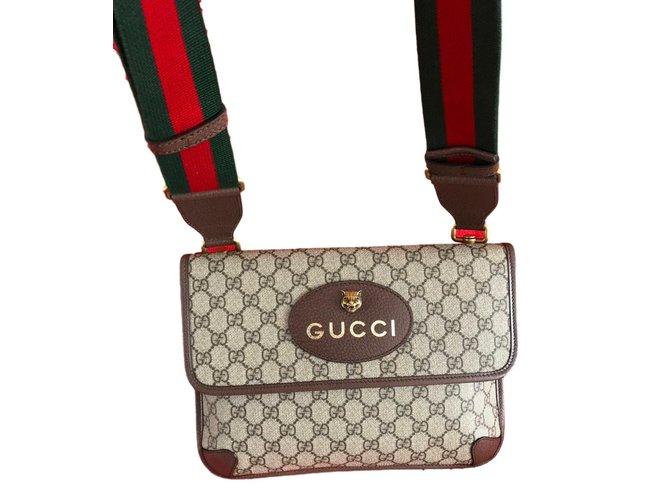 54e6f3ebe6c2 Sacs Gucci Sacs Tissu Multicolore ref.73080 - Joli Closet