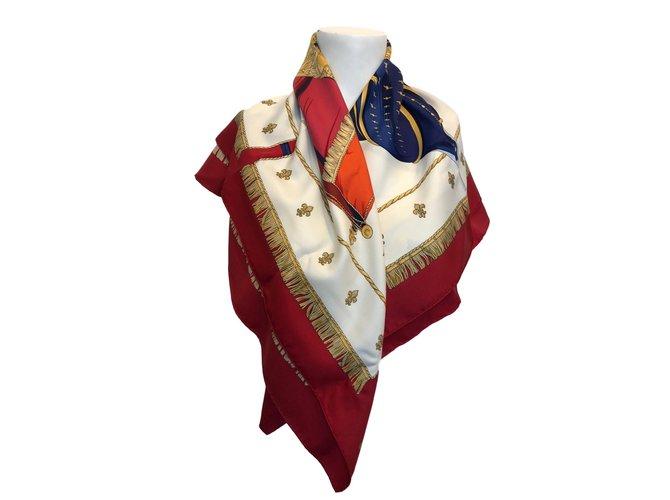 5b4b0e9835b4 Foulards Hermès Vue du Carrosse de la Galère La Réale Soie Multicolore  ref.73142