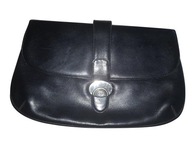 28da75c54 Gucci Clutch Bag Clutch bags Leather Black ref.73161 - Joli Closet