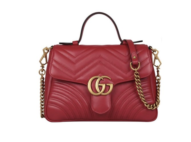 Gucci Handbags Leather Red Ref 73299