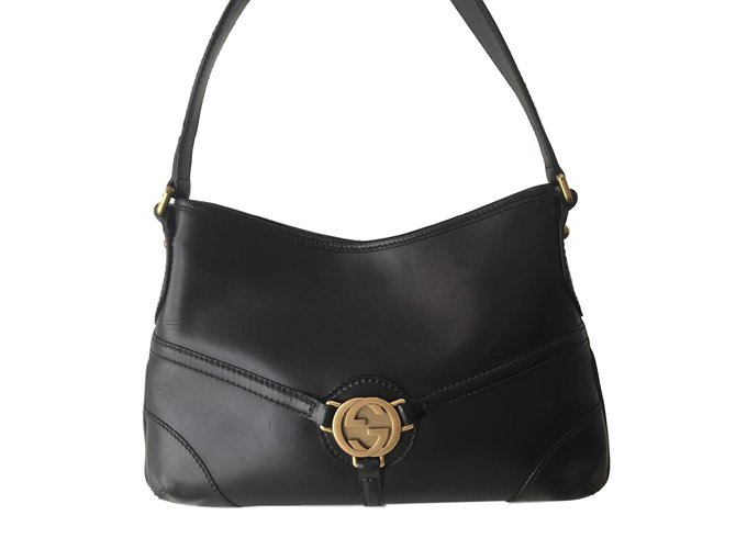 Gucci Handbags Leather Black Ref 73578