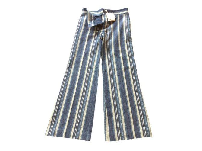 Chloé Pants, leggings Pants, leggings Cotton Blue ref.73579