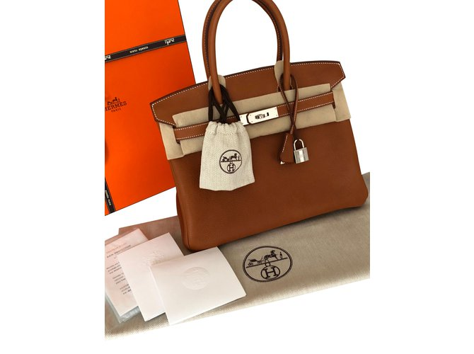 11e0af2942 Hermès Birkin 30 Barenia Faubourg Handbags Leather Brown ref.73741 ...