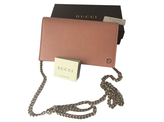 6bea550e2 ... gucci wallet chain clutch bags leather pink ref 73929; gucci; gucci  dionysus ...