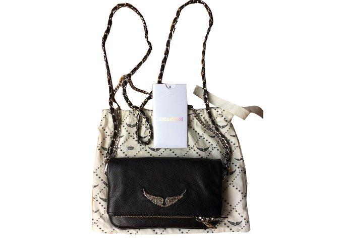 2b240bcc30ec Zadig   Voltaire Rock nano Clutch bags Leather Black ref.73941 ...