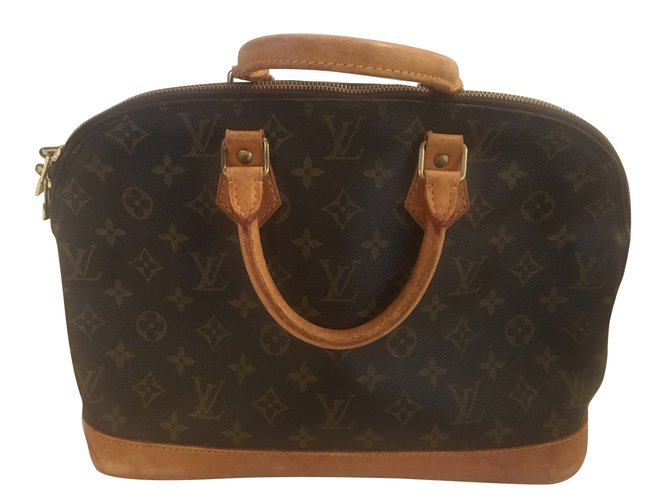 9c014e69ea02 Louis Vuitton ALMA MONOGRAM Handbags Leather