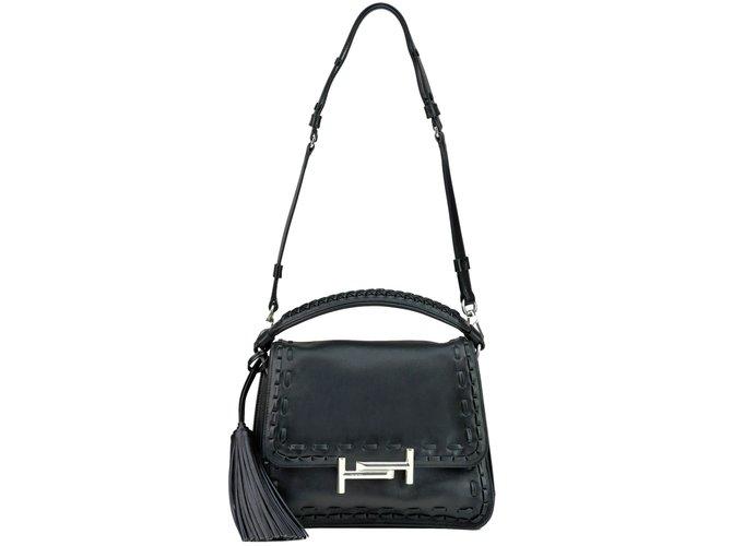 fe2bc2282301a Tod's Handbags Handbags Leather Black ref.74068 - Joli Closet