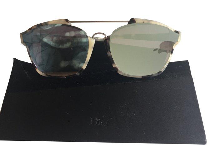 81bff53c11b Dior Abstract Sunglasses Plastic Beige ref.74083 - Joli Closet