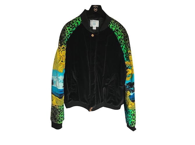Vestes Versace For H M Vestes Velours Multicolore Ref 74161 Joli