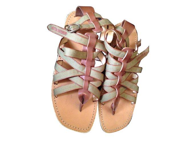 d2848c1204f Christian Louboutin Men Sandals Men Sandals Leather Olive green ref.74202