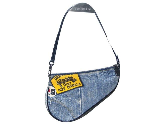 Christian Dior Saddle Clutch bag Clutch bags Leather b8dec120071b3