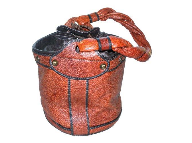 963decd32c7b Fendi Bag Handbags Leather Dark brown ref.74343 - Joli Closet