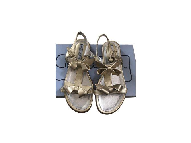 Autre Marque Kids Sandals Kids Sandals Leather Golden ref.74371