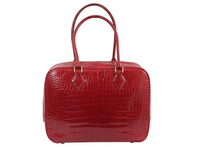 Hermès Plume Handbags Exotic leather Red ref.74687