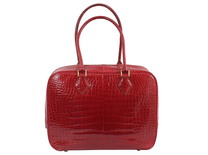Sacs à main Hermès Plume Cuirs exotiques Rouge ref.74687